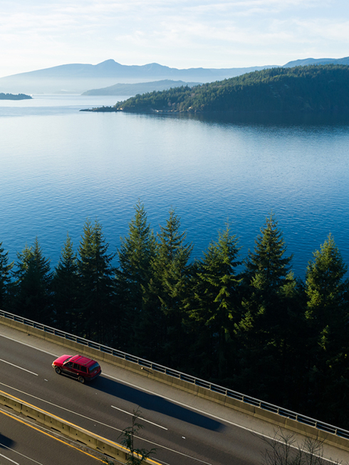 The stunning Sea to Sky Highway north of Vancouver