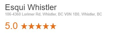 Esqui Whistler Google Rating